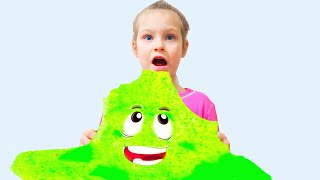 Colors song for kids Twin make a giant slime