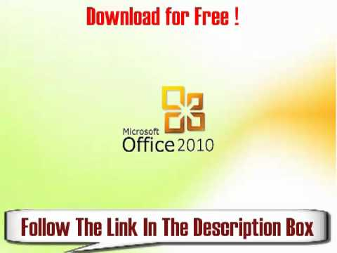 Microsoft Office 2010 License Key Free! - YouTube