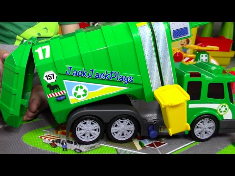 Thumbnail: Garbage Truck Videos for Children: Recycling Toy UNBOXING | Playing LEGOs JackJackPlays