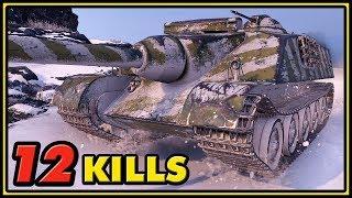 AMX 50 Foch - 12 Kills - 1 vs 5 - World of Tanks Gameplay