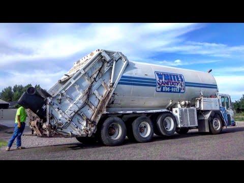Crane Carrier Integrated Rear Loader (IRL) Garbage Truck: White's Sanitation