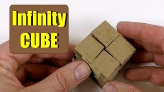 How to Make an INFINITY CUBE from Cardboard - DIY Cardboard idea