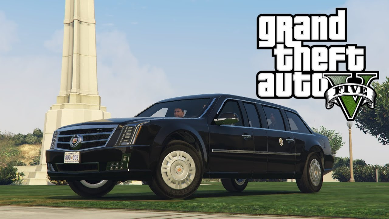 The Beast in GTA V! Cadillac Presidential Limousine mod - YouTube
