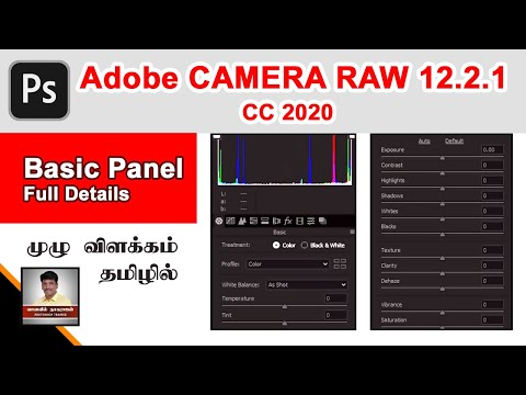 photoshop-cc-2020-:-basic-panel-full-details-of-camera-raw-12.2.1-in-tamil