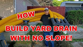 How To Build a Yard Drain System with No Slope [ COMBO INSTALL! ]