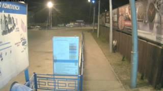 Воровство туй на вокзале в Калуге