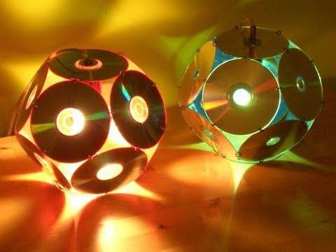 Вопрос: Как сделать диско шар из компакт дисков?