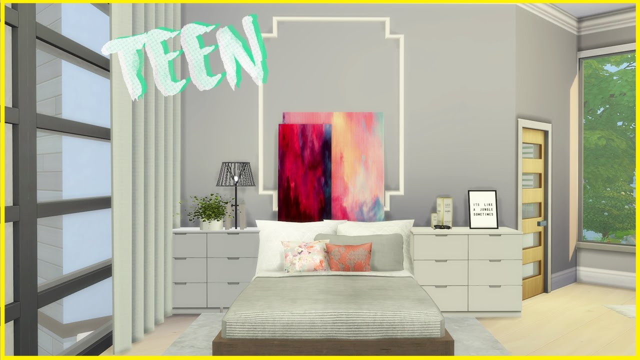 Teen And Young Adult Female Bedroom Decor | The Sims 4