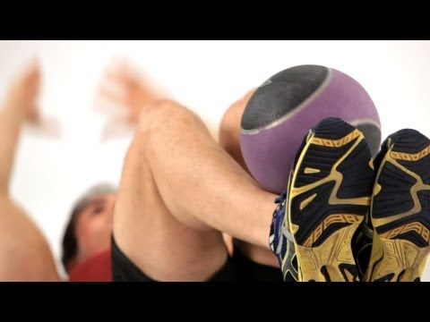 Super Crunches with Medicine Ball   Ab Workout