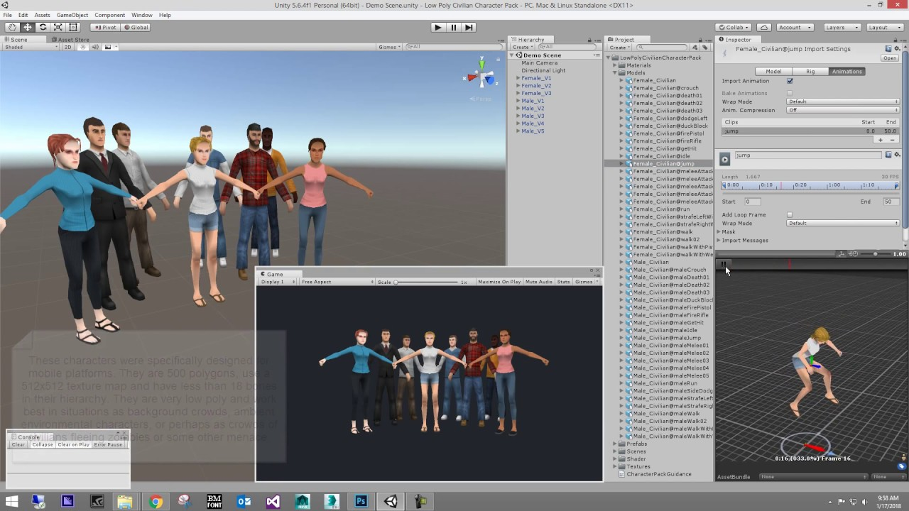 Low Poly Civilian Character Pack - Unity Asset Store