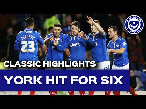 Highlights: Portsmouth 6-0 York City