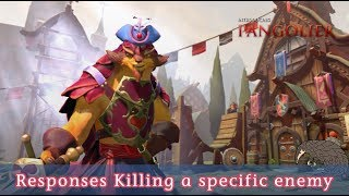 Pangolier - All Responses Killing a specific enemy (with subtitle)