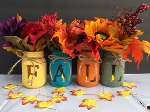 Fall Decorating Canning Jars
