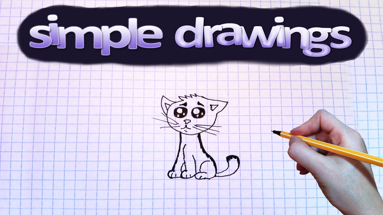 Simple Drawings #63 How To Draw Sad Little Cat