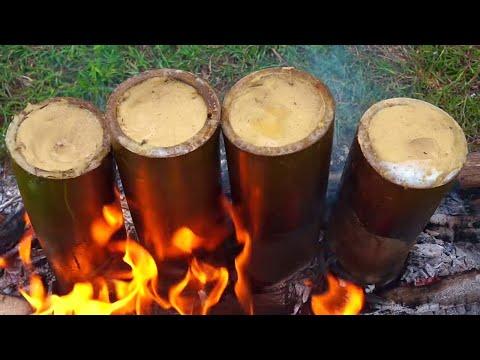 BAMBOO CHICKEN BIRYANI IN GREEN BAMBOO || HOW TO MAKE A HEALTHY CHICKEN BIRYANI RECIPE