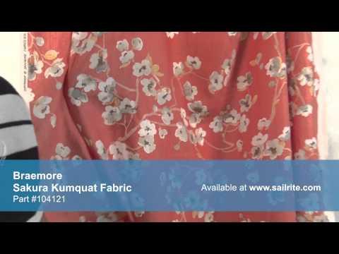 Video of Braemore Sakura Kumquat Fabric #104121