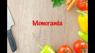 How to cook - Memoranda