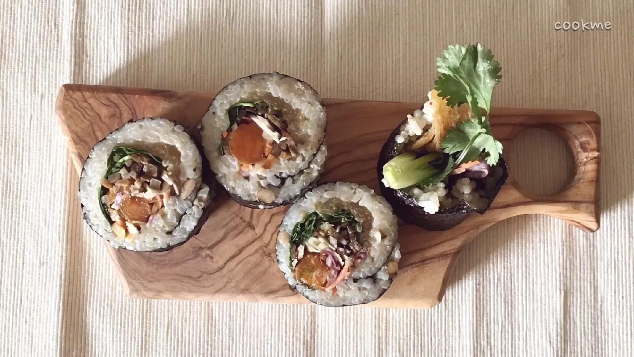 요리 ASMR 🍳 한가한 오후, 내맘대로 채소 김밥 만들기