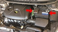 How to Replace Battery on Hyundai Elantra 2011 2012 2013 2014 2015 2016