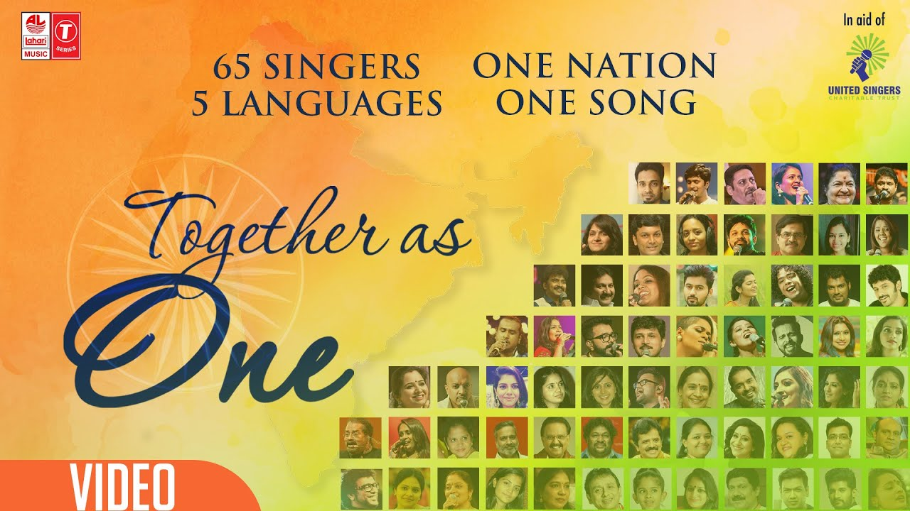 Together As One | United Singers Charitable Trust | 65 Singers ,5 Languages ,One Nation ,One Song