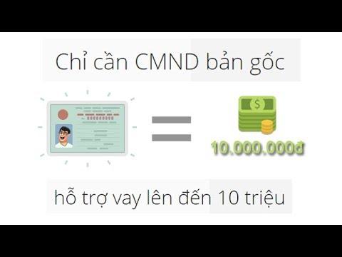 Cho Vay Tiền Mặt Từ 1-10 Triệu Chỉ Cần CMND/CCCD, Không Cần Thế Chấp