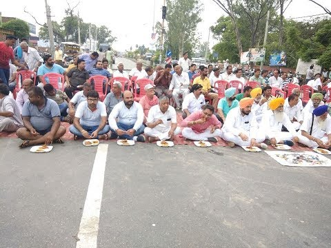 AAP Punjab | Sunam MLA Aman Arora second day protest against Punjab Govt with food grain merchants