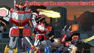 Testing Out the New Power Sword!  Power Rangers Legacy Wars Megazord
