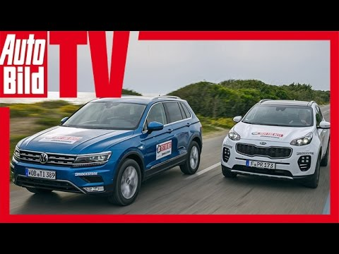 test kia sportage vs vw tiguan kia gegen volkswagen suv youtube. Black Bedroom Furniture Sets. Home Design Ideas
