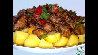 Дапанджи рецепт маринованная курица овощи тесто и хрустящая картошка нереально вкусно