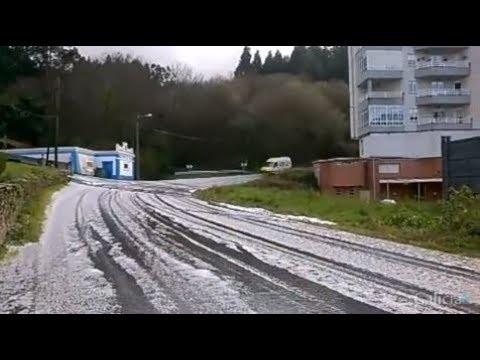 Granizada y nieve en A Mariña