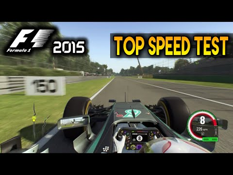 F1 2015 Top Speed Comparison (All Cars Tested) - YouTube