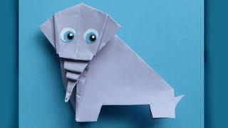 СЛОНИК - Легкое Оригами из Бумаги. Животные Оригами для Детей