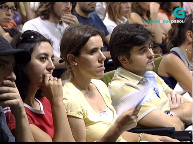 Conferencia de Stephen Hawking na facultade de Física da Universidade de Santiago