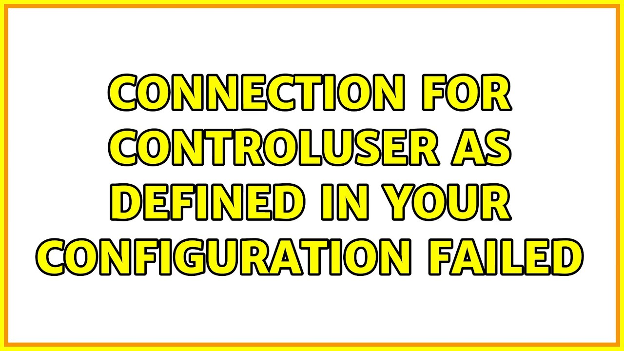 Ubuntu: Connection for controluser as defined in your configuration failed