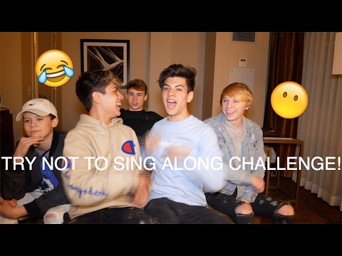 TRY NOT TO SING ALONG CHALLENGE WITH POMS