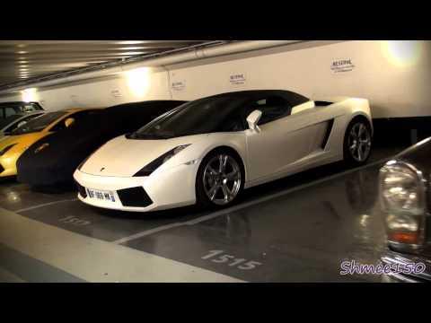 Amazing Garage in Paris - R8 GT, Veyron Sang Noir, Brabus SLR, BMW Z8, Lagonda