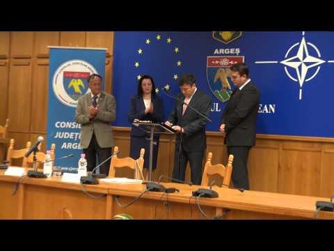 Juramantul de investire a lui Florin Tecau in functia de presedinte al CJ Arges
