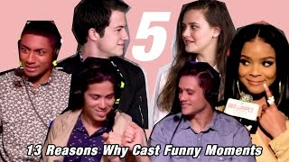 13 Reasons Why Cast funny interview moments 5!