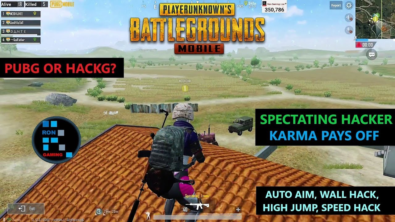 [Hindi] PUBG MOBILE | SPECTATING HACKER WALL HACK, SPEED HACK, HIGH JUMP, AUTO AIM