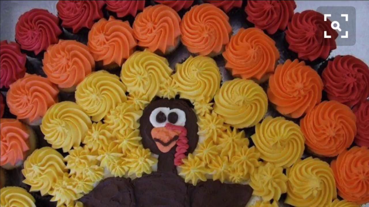 Turkey Cupcake Cake Image