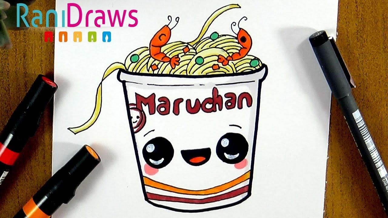 Como Dibujar Una Sopa Maruchan Kawaii Paso A Paso Youtube