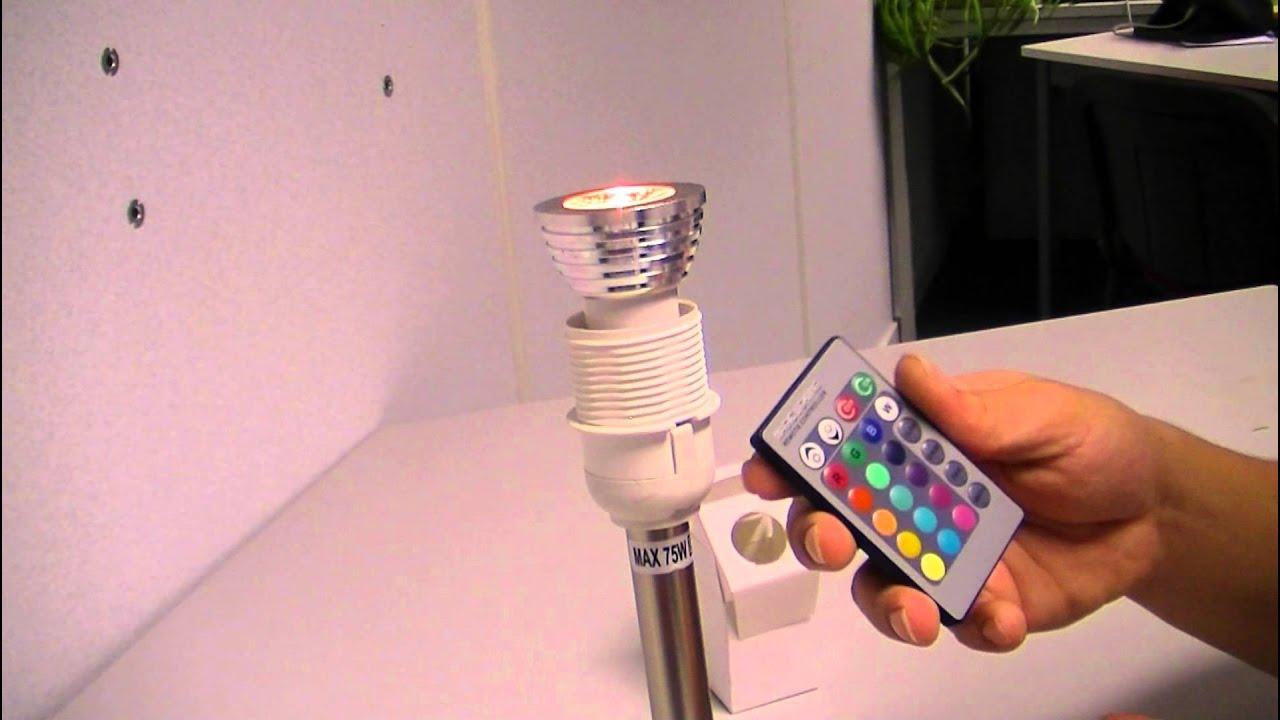 Lampen Op Afstandsbediening : Dakos led lamp met afstandsbediening youtube