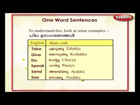 Learn Malayalam Through English | Lesson - 11 | One word