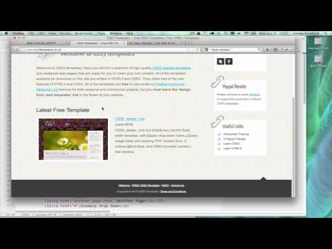 HOWTO Use HTML & CSS Templates