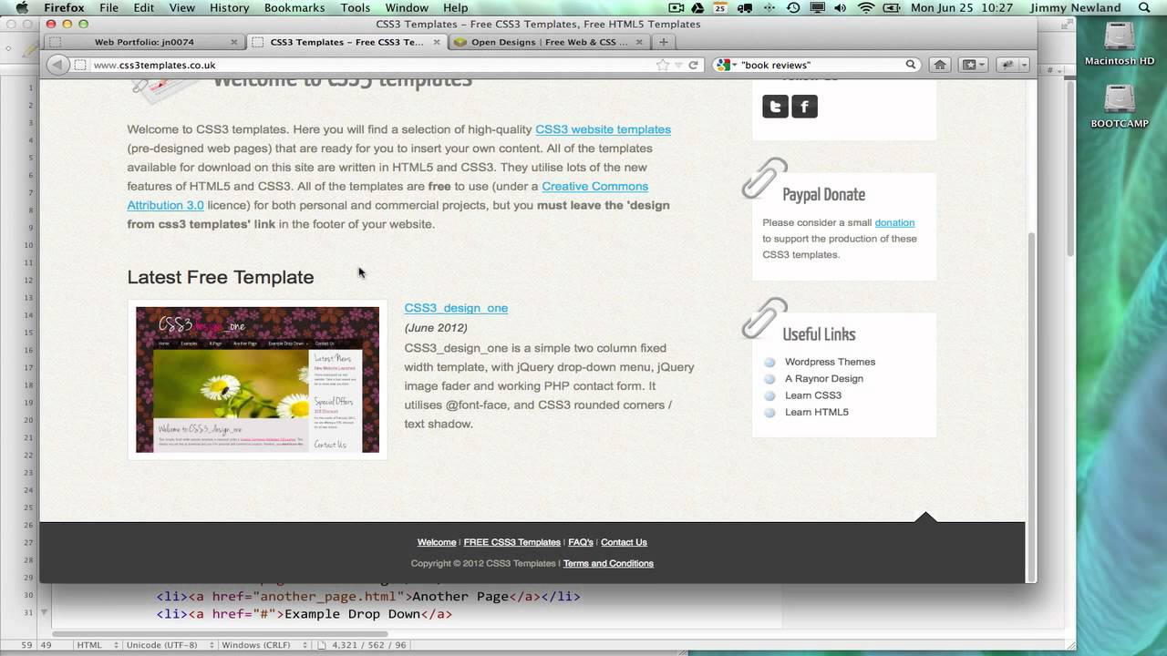 Howto Use Html Css Templates Youtube