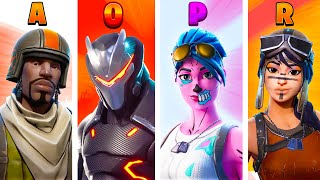 BEST SKIN BY LETTER (A-Z) | Fortnite Battle Royale!