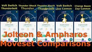 Jolteon & Ampharos Moveset Comparison