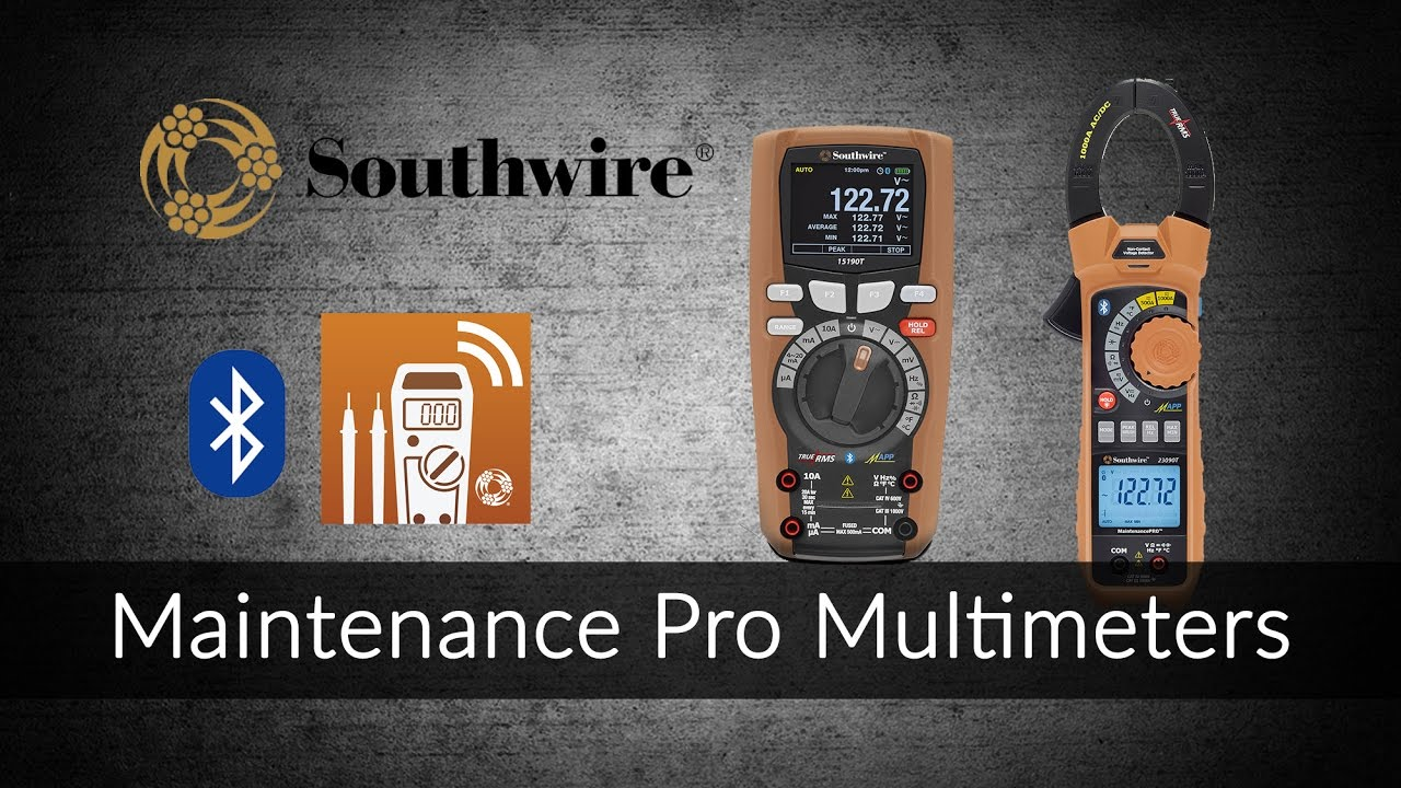 Maintenance Pro Multimeters from Southwire - YouTube