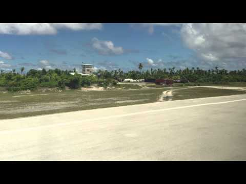 Nauru Airlines arrives in Tarawa, Kiribati