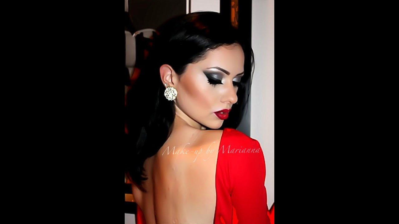 Smokey Eye for Red Dress